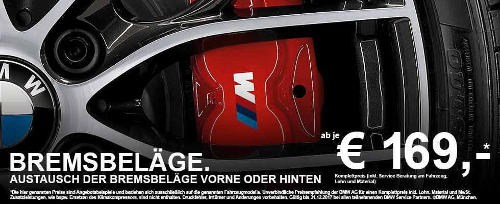 BMW Bremsbeläge - BMW Service Bremsanlage & Austausch der Bremsbeläge