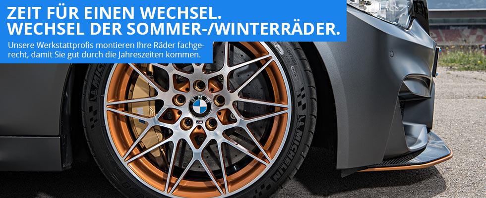 BMW Radwechsel - Tausch der Sommer- und Winterräder